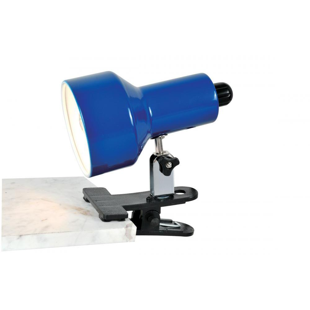6.8 in. Blue Clip-On Desk Lamp