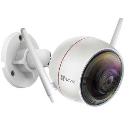 HD 1080p Wireless Indoor/Outdoor Bullet Standard Camera with Siren and Strobe Light 100 ft. Night Vision