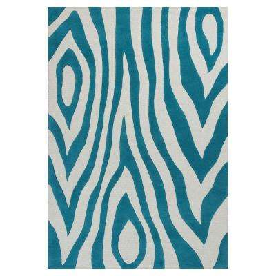 Wild Play Teal 3 ft. x 5 ft. Area Rug