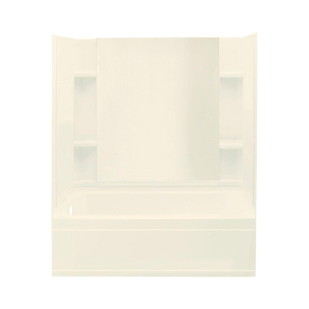 STERLING Accord 32 in. x 60 in. x 76 in. Four Piece Direct-to-Stud Bath/Shower Kit in Biscuit-DISCONTINUED