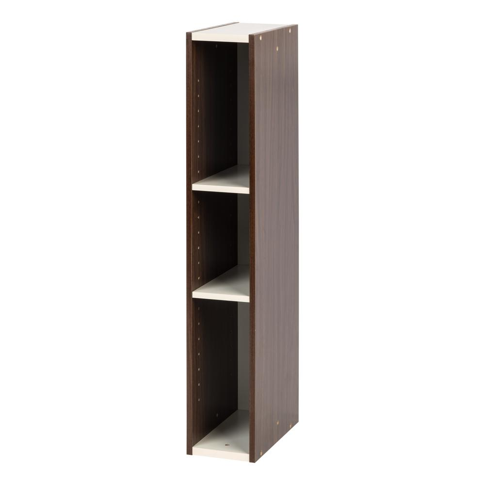 Fantastic Iris 6 In X 34 In Walnut Brown Slim Space Saving Shelf Beutiful Home Inspiration Xortanetmahrainfo