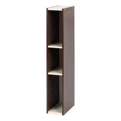 6 in. x 34 in. Walnut Brown Slim Space Saving Shelf