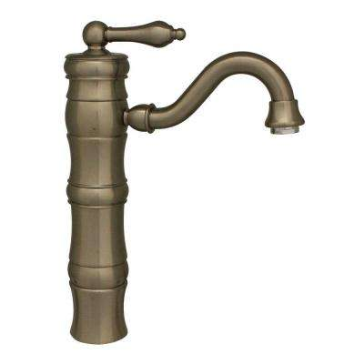 Vintage III Single Hole 1-Handle Bathroom Faucet with Traditional Spout in Brushed Nickel