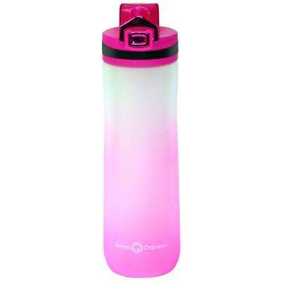 22 oz. Frosted Pink Plastic Tritan Hydration Bottle (6-Pack)