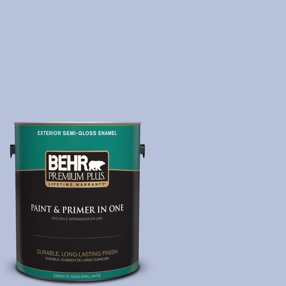 1 gal. #610C-3 Virginia Blue Semi-Gloss Enamel Exterior Paint