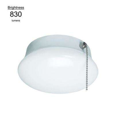 7 in. Bright White Integrated LED Flushmount Ceiling Light Lampholder Replacement Fixture