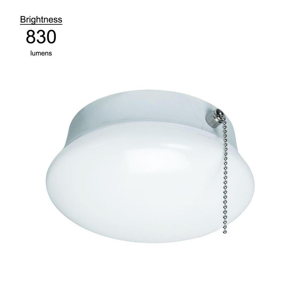 7 in. Bright White Integrated LED Flushmount Ceiling Light Lampholder