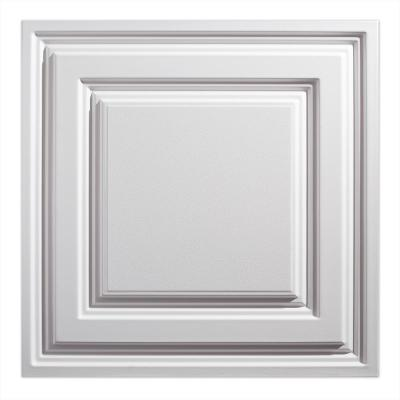 23.75in. X 23.75in. Icon Relief Lay In Vinyl White Ceiling Panel (Case of 12)