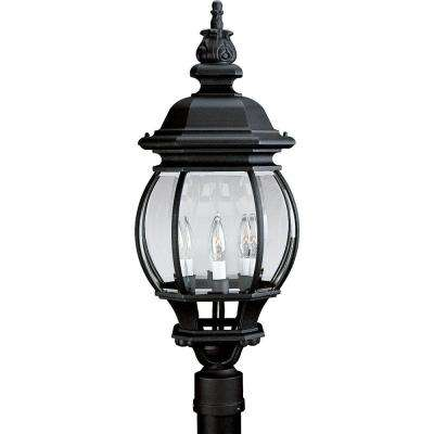 Onion Lantern Collection Textured Black 4-Light Outdoor Post Lantern