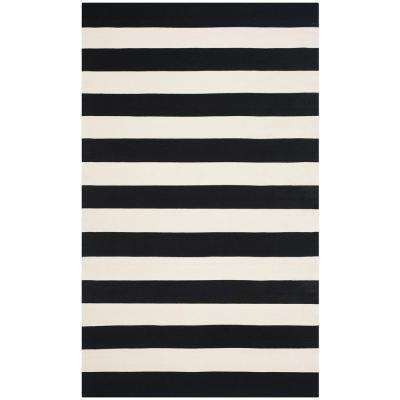 Montauk Black/Ivory 8 ft. x 10 ft. Area Rug