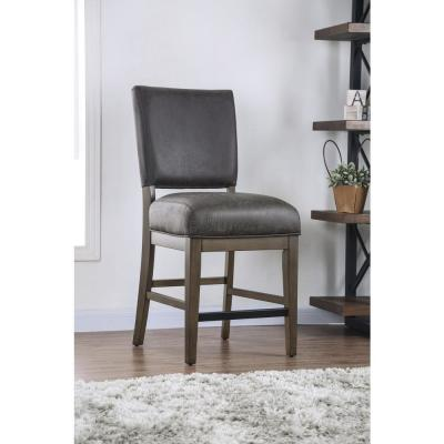 Carli Rustic Oak Upholstered Counter Height Dining Chairs (Set of 2)