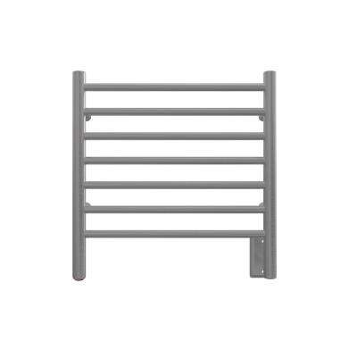 Radiant Small 7-Bar Hardwired Electric Towel Warmer in Brushed Stainless Steel