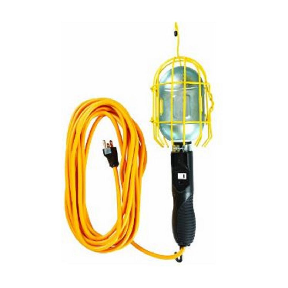 Yellow Jacket 25 ft. 16/3 Trouble Light with Outlet and Dual