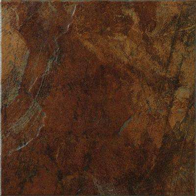 Imperial Slate 12 in. x 12 in. Rust Ceramic Floor and Wall Tile (14.53 sq. ft. / case)