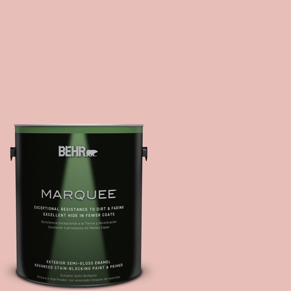 1 gal. #T18-01 Positively Pink Semi-Gloss Enamel Exterior Paint