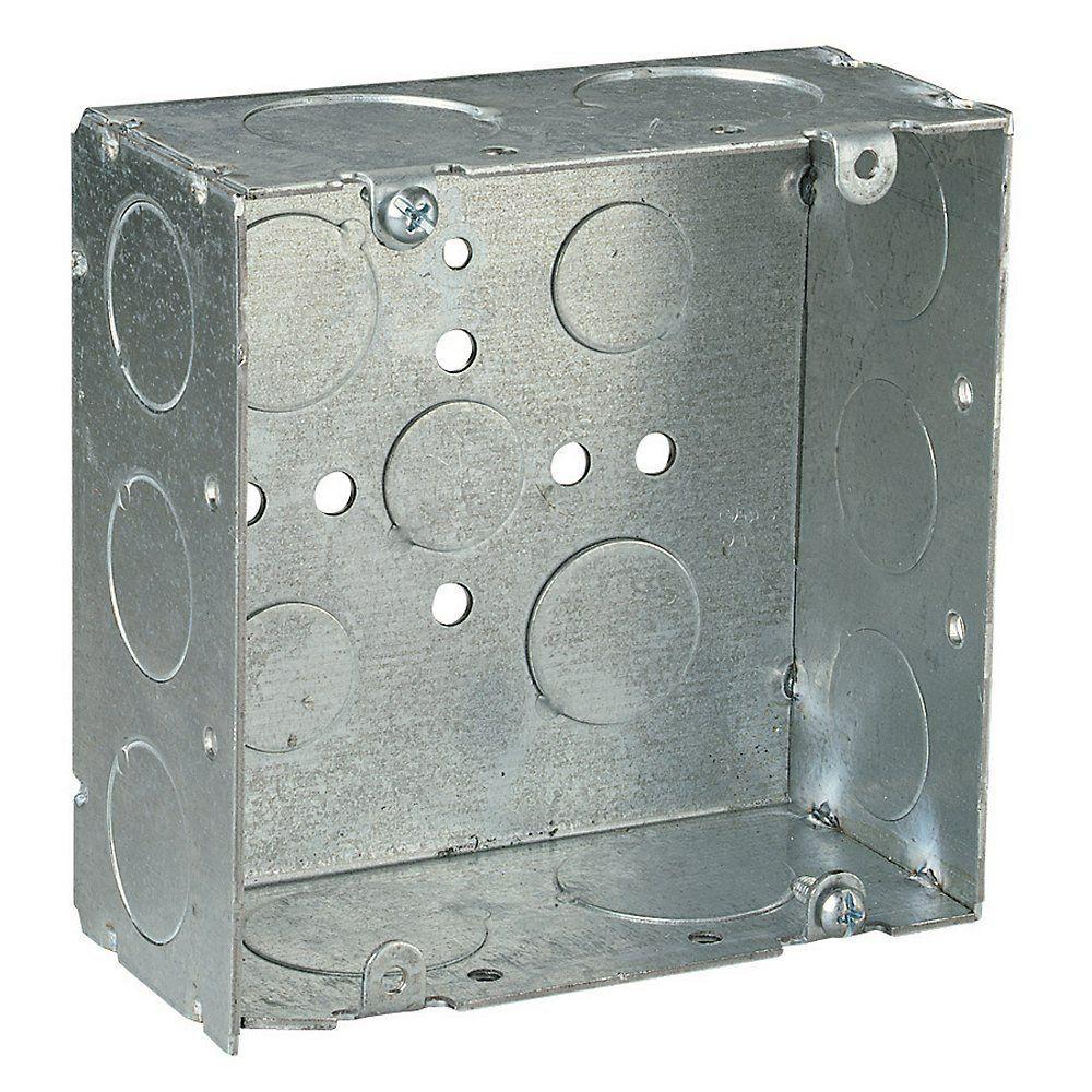 4 in. 42 cu. in. 2-1/8 in. Deep Square Box (Case
