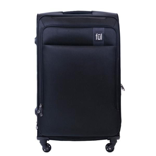 81574a726a Ful Flemington 29 in. Black Soft Sided Rolling Luggage Suitcase ...
