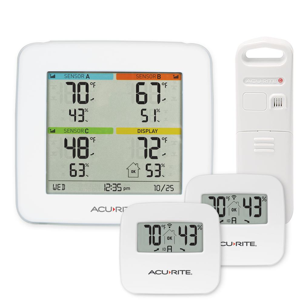Temperature and Humidity Station with 3 Indoor/Outdoor Sensors