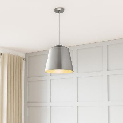 1-Light Metal Brushed Nickel Pendant