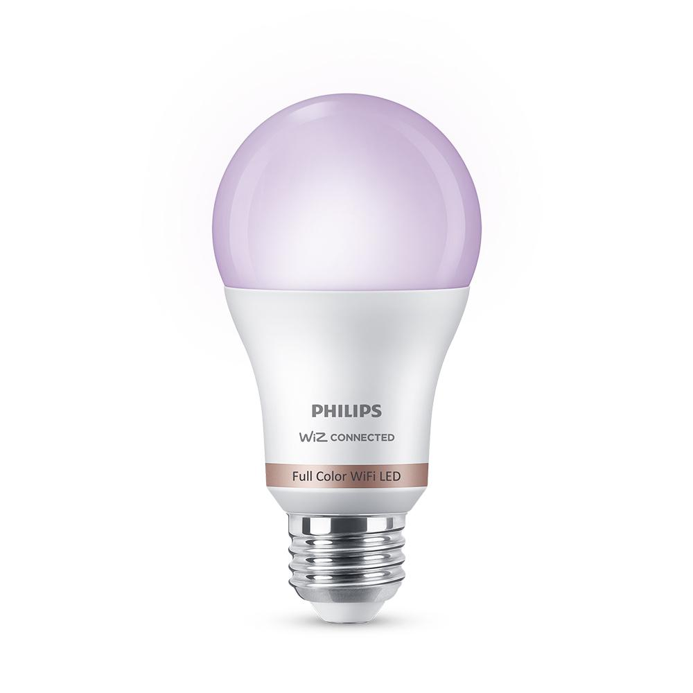 Philips Color and Tunable White A19 LED 60W Equivalent Dimmable Smart Wi-Fi Wiz Connected Wireless Light Bulb