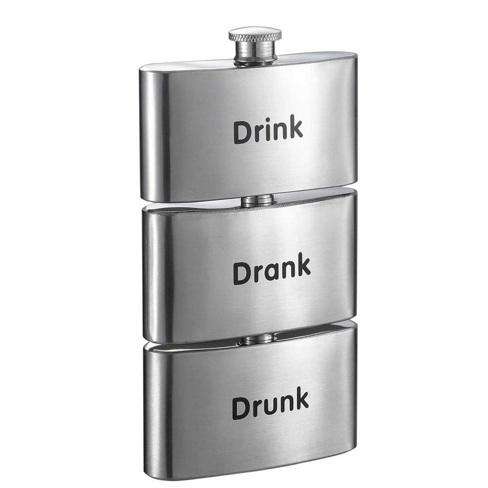visol tenses printed three in one liquor flask tower vf5065 the