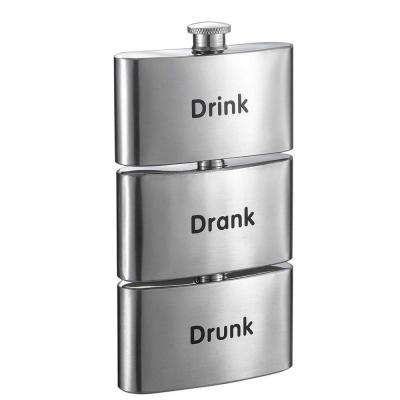 Tenses Printed Three-In-One Liquor Flask Tower