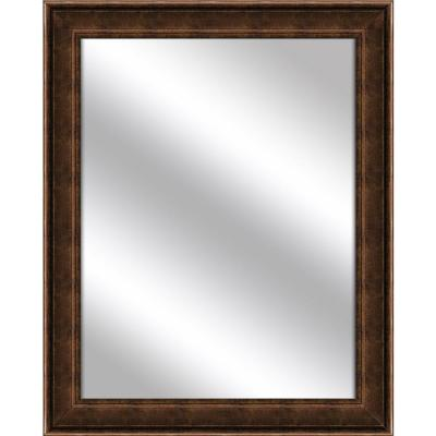 Medium Rectangle Gold Art Deco Mirror (31.5 in. H x 25.5 in. W)