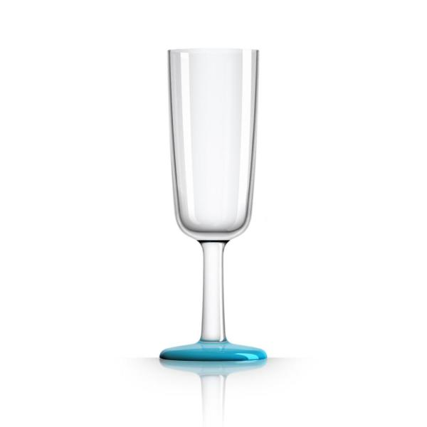 Marc Newson 6 oz. Champagne Flute Tritan with Vivid Blue Non-Slip