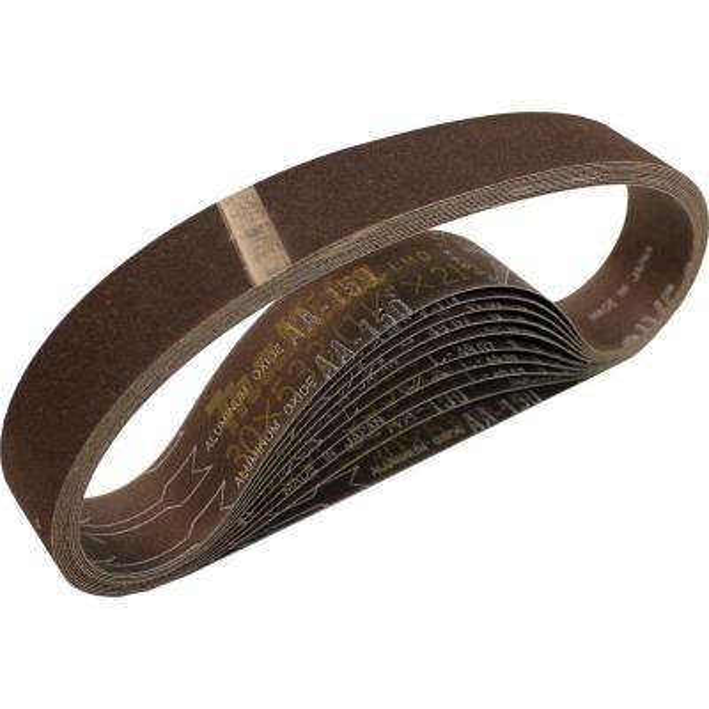 1-1/8 in. x 21 in. 150-Grit Abrasive Belt (10-Pack)