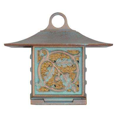 Oak-Leaf Artisan Copper Verdi Suet Bird Feeder