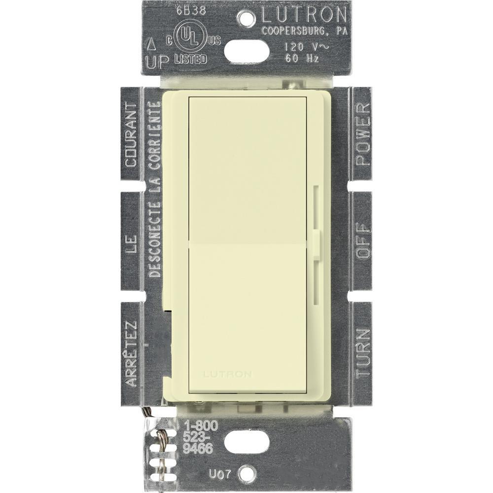 Diva 600-Watt Single-Pole Magnetic Low-Voltage Dimmer, Almond