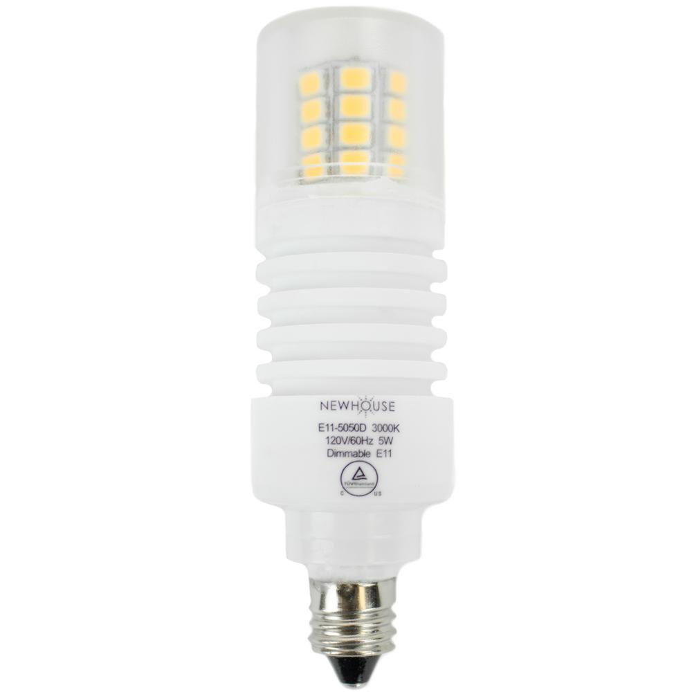 Newhouse Lighting 50w Equivalent Soft White Wedge E11 Dimmable Led Light Bulb E11 5050ds The