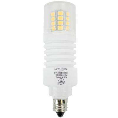 50W Equivalent Soft White Wedge E11 Dimmable LED Light Bulb