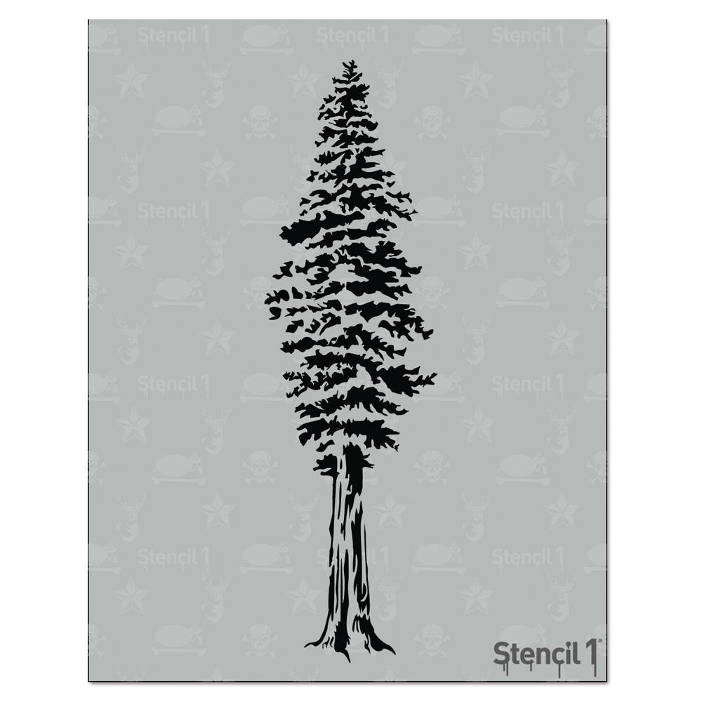 Stencil1 Redwood Tree Stencil S1 Rwt 10 The Home Depot