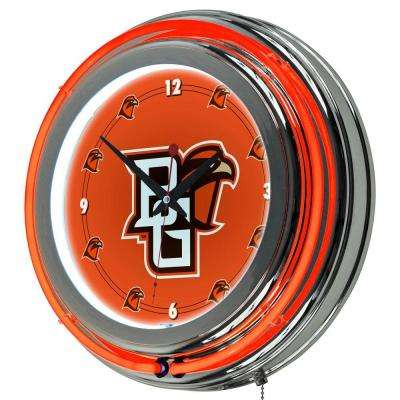 14 in. Bowling Green Round Neon Wall Clock