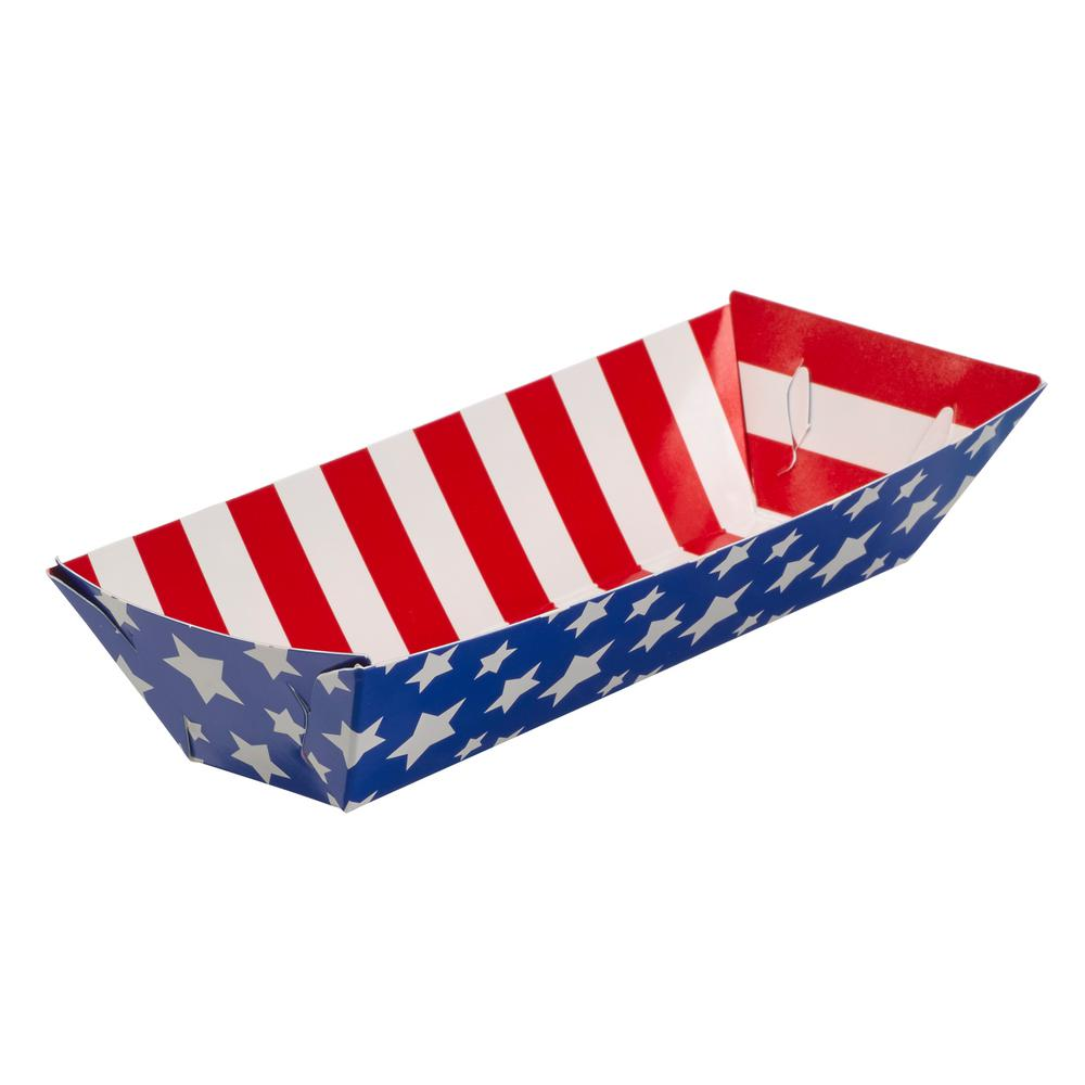 Amscan Patriotic Paper Food Trays (50-Count)
