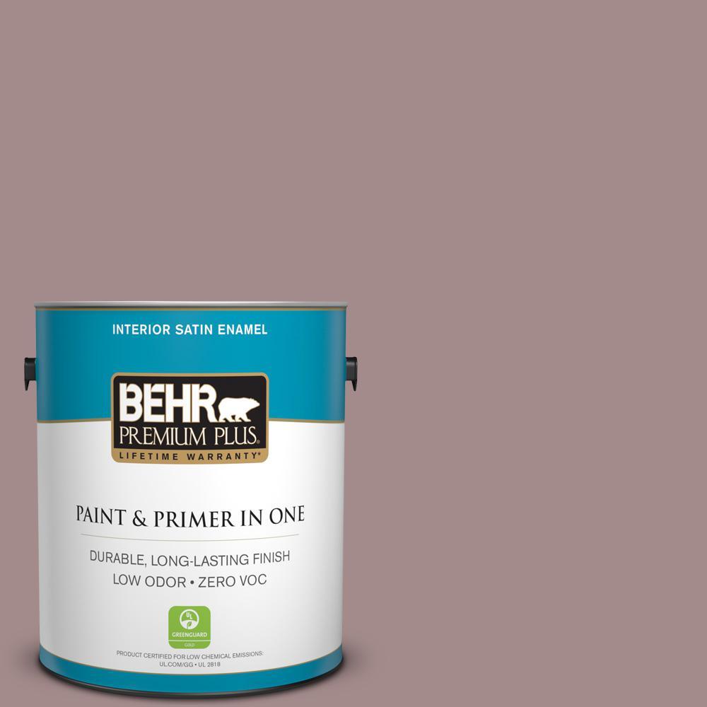 1 gal. #PPU17-15 Cameo Rose Zero VOC Satin Enamel Interior Paint