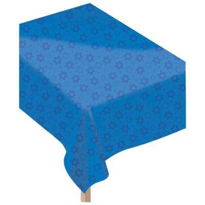 Hanukkah Rectangular Flannel Back Table Cover (2-Pack)