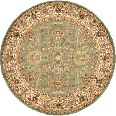 Voyage St. Florence Light Green 8' 0 x 8' 0 Round Rug