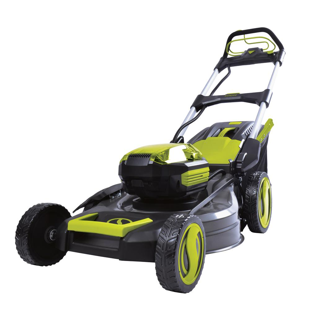 21 in. 100-Volt Cordless Battery-Powered Walk-Behind Self Propelled Lawn Mower
