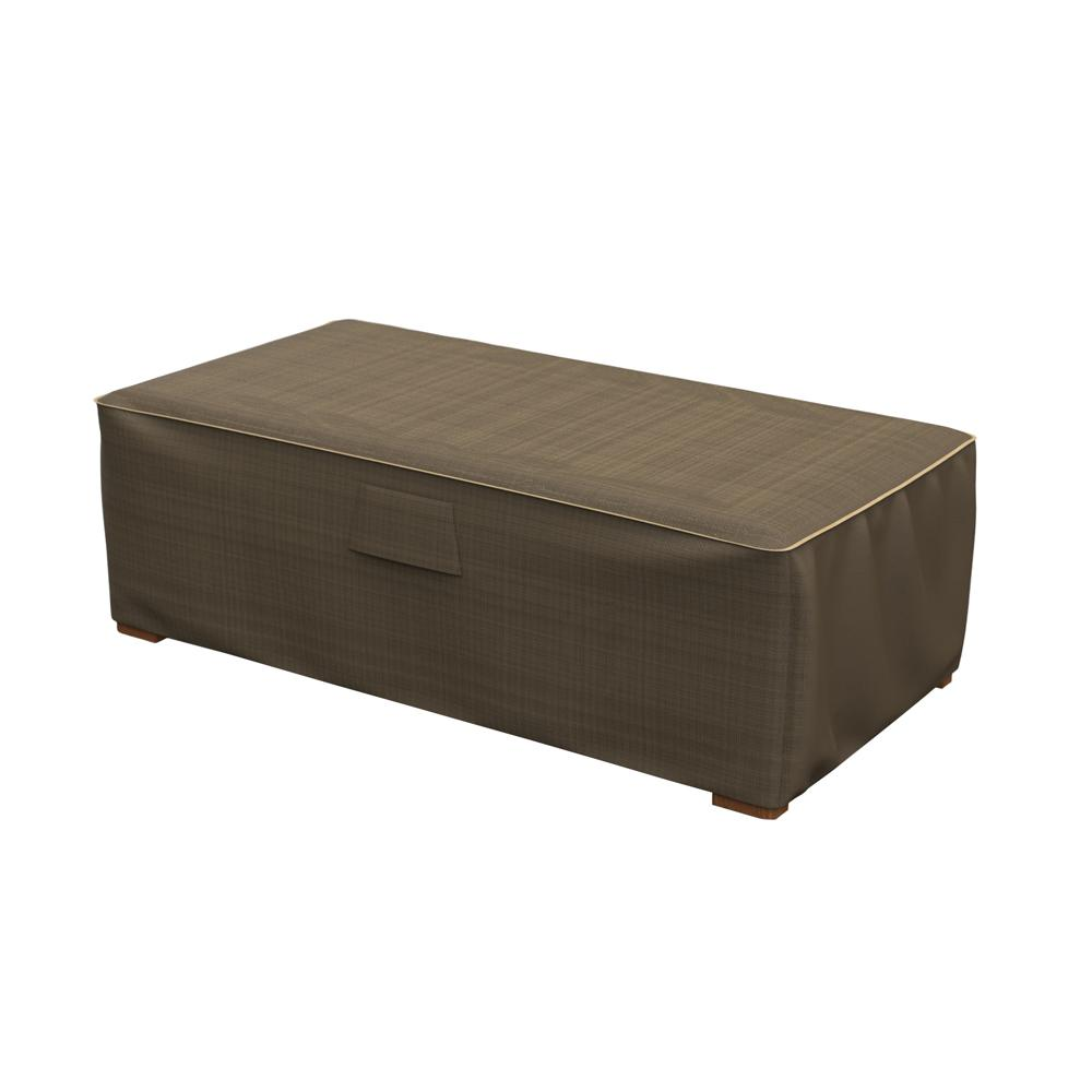 Budge NeverWet and Reg Hillside Medium Black and Tan Patio Ottoman/Coffee Table Cover