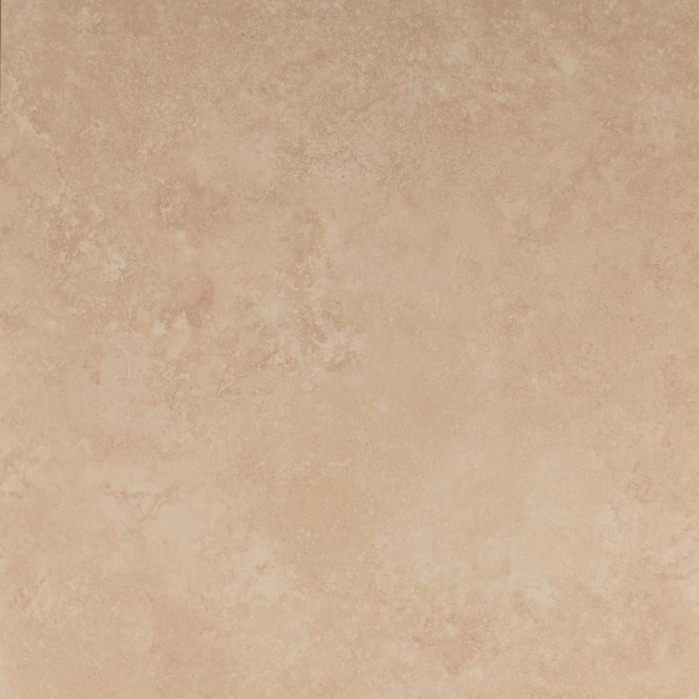 Travertino Beige 24 in. x 24 in. Glazed Porcelain Floor and