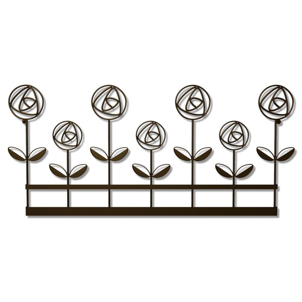 11 in. x 24 in. Rose Garden Wall Decor Steel