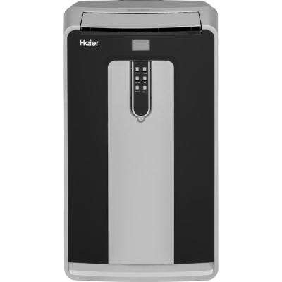 14,000 BTU Portable Air Conditioner with Dehumidifier in Black and Silver