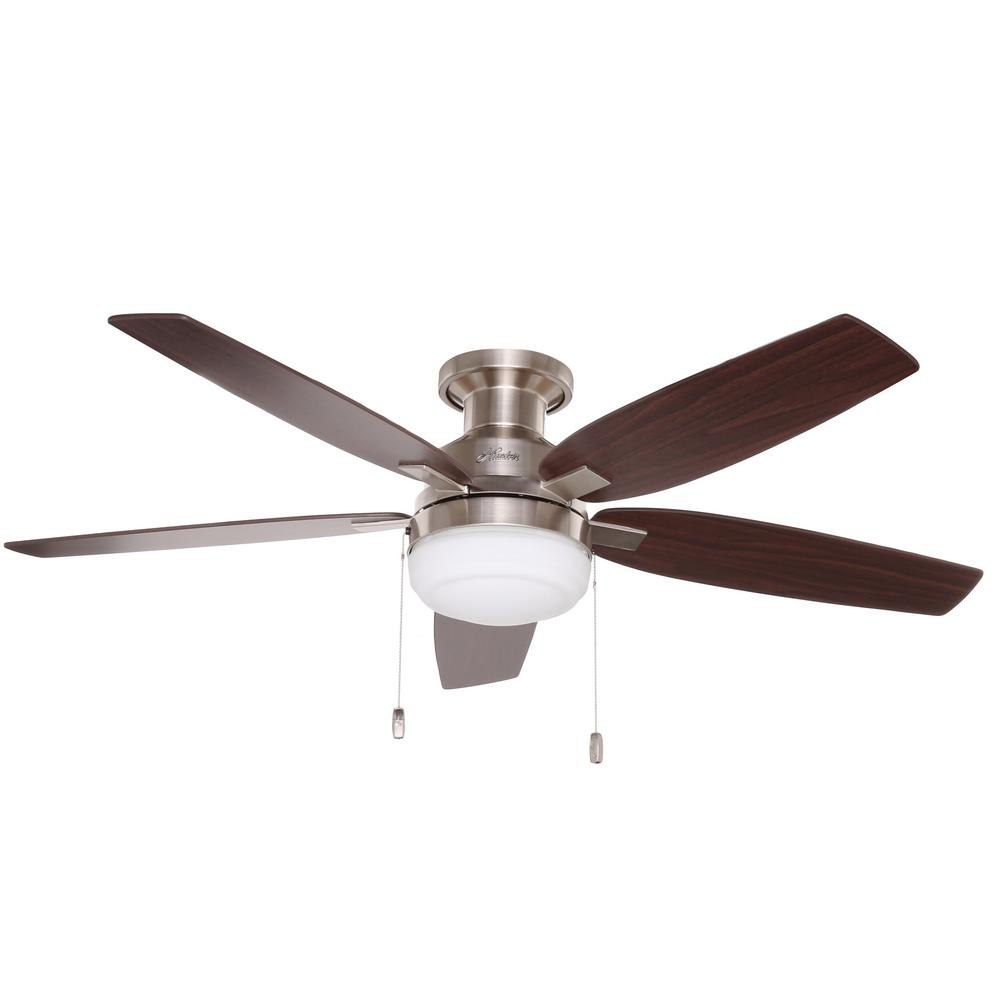 Hunter duncan 52 in indoor brushed nickel ceiling fan 59185 the hunter duncan 52 in indoor brushed nickel ceiling fan 59185 the home depot aloadofball Choice Image