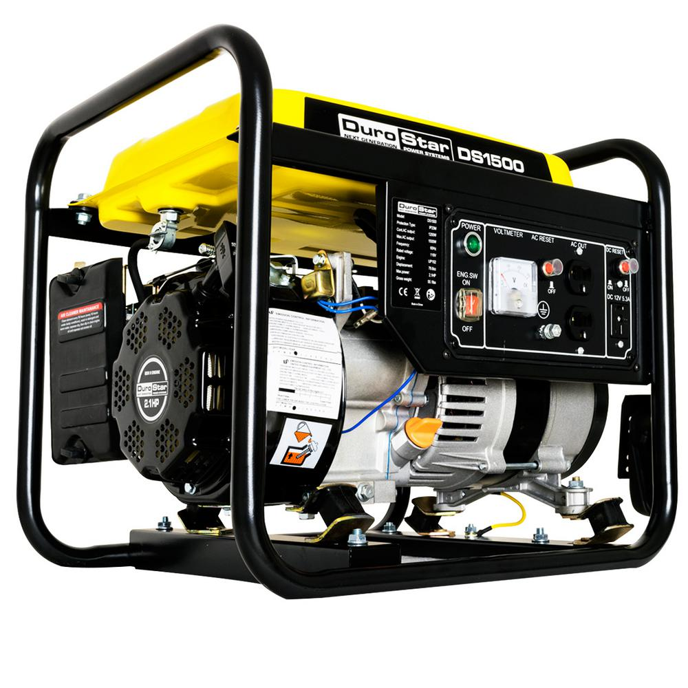 1200-Watt Gas Powered Recoil Start CARB Approved Portable Generator