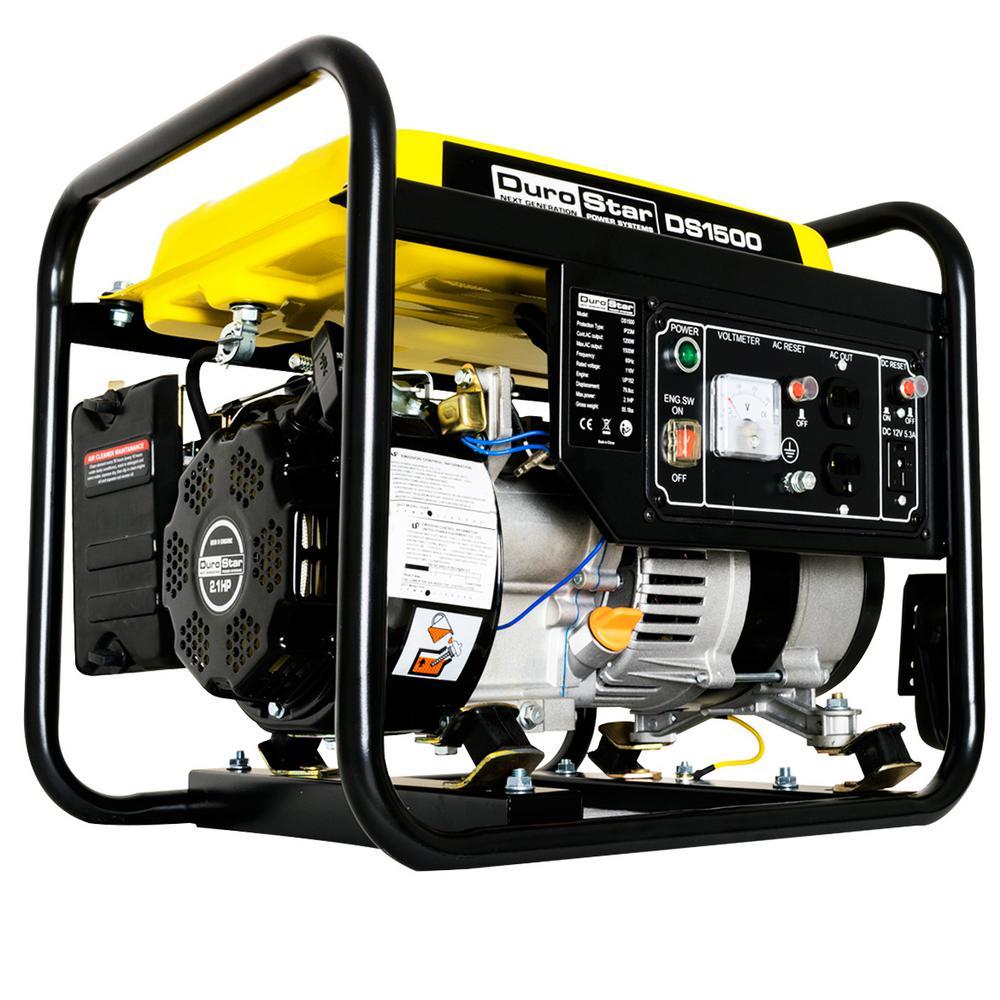 Durostar 1200-Watt Gas Powered Recoil Start CARB Approved Portable Generator by Durostar