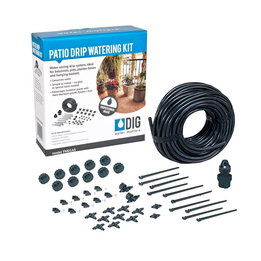 dig patio drip irrigation kit fm01as the home depot