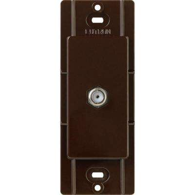 Claro Coaxial Cable Jack, Brown