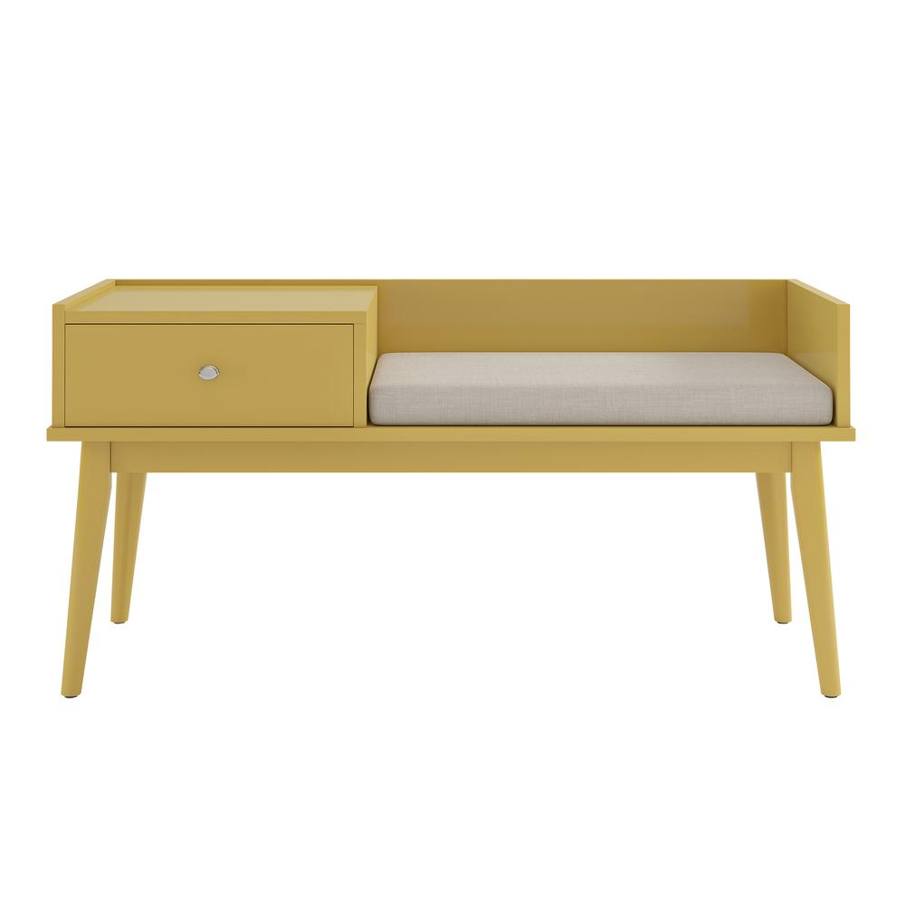Homesullivan Langley Yellow Telephone Bench Write A Review